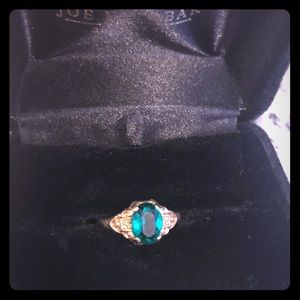 Emerald and 10k gold antique vintage REAL!